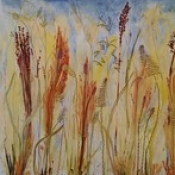 """Sylvia Emery Wilhelm - Autumn Grass • <a style=""""font-size:0.8em;"""" href=""""http://www.flickr.com/photos/87092804@N03/16518988002/"""" target=""""_blank"""">View on Flickr</a>"""